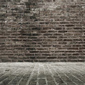 Brick wall and floor — Stock Photo