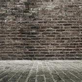 Brick wall and floor — Stock Photo