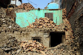 Demolished buildings — Stock Photo