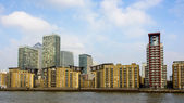 Canary Wharf skyline, London — Stock Photo