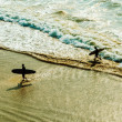 Two surfers — Stock Photo #38292653