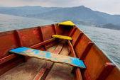 Barque on Phewa Lake in Pokhara — Stock Photo