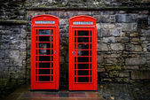 British telephone boxes — Stock Photo