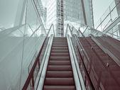 Escalator in a modern district — Stock Photo