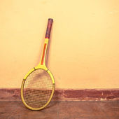 Vintage tennis racket — Stock Photo