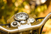 Vintage motorcycle dashboard — Stock Photo