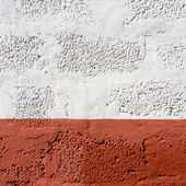 Red and white wall texture — Stock Photo
