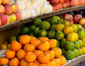 Fruits on a market stand — Foto Stock