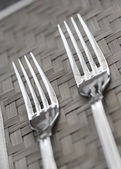 Two forks — Stock Photo