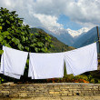 Sheets drying in the sun — Stock Photo #40629129
