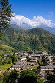 Ghandruk village in the Annapurna region — Stock Photo