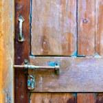 Door detail — Stock Photo