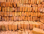 Stack of bricks — Stock Photo