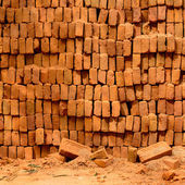 Stack of bricks — Stok fotoğraf