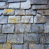 Slate roof detail — Stock Photo