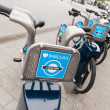 Stock Photo: Barclays Cycle Hire docking station