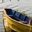 Boat on Phewa Lake in Pokhara — Stock Photo