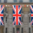 Stock Photo: Three Union Jack flags