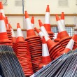 Stock Photo: Orange traffic cones