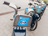 Barclays Cycle Hire docking station — Stock Photo
