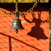 Bell in a Budddhist temple — Stock Photo