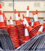 Orange traffic cones — Stock Photo