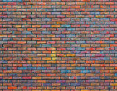 Colorful brick wall texture — Stock Photo