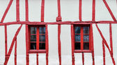 Half-timbered house detail — 图库照片