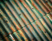 Rusty corrugated roof — Stock Photo