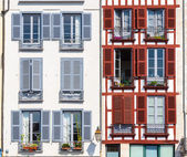 Building facade in Bayonne — Stock Photo