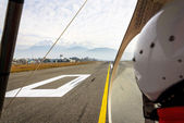 Ultralight ready for takeoff — Stock Photo
