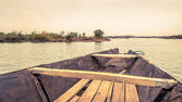 Pirogue on the Niger River in Mali — Stock Photo