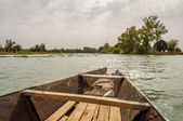 Pirogue on the Niger River — Stock Photo