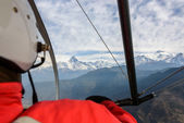 Flying an ultralight in Nepal — Foto Stock