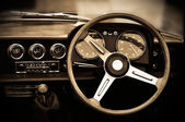 Vintage car dashboard — Stock Photo