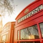 budki telefoniczne i wieży zegar w Londynie — Zdjęcie stockowe #47027315