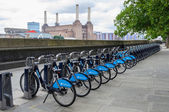 Barclays bikes in London — Stock Photo