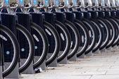 Barclays cyklar i london — Stockfoto