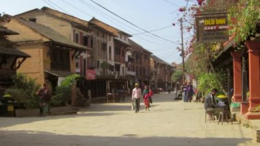 Bandipur village in Nepal — Stock Video