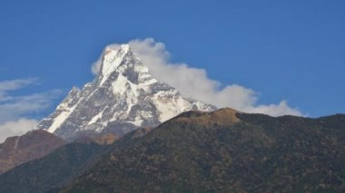 Machhapuchhre in nepal, timelapse video — Stockvideo