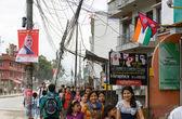 Prime Minister Narendra Modi arrives in Kathmandu — Stock Photo