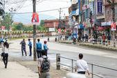 Premiärminister narendra modi anländer i kathmandu — Stockfoto