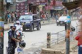 Prime Minister Narendra Modi arrives in Kathmandu — Stockfoto
