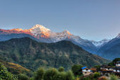 Ghandruk village in Nepal — Stock Photo
