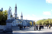 Cathedral Basilica of Lourdes France — Stock Photo