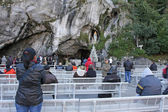 Grotte of Lourdes France — Stock Photo