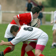 Stock Photo: Rugby playing