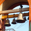Bronze Bells of Orthodox cathedral in summer day. Odessa, Ukrain — Stock Photo #12903020