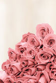 Bouquet of roses on a faded background paper — Stock Photo