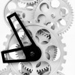 Part of gears in a mechanical clock — Stock Photo